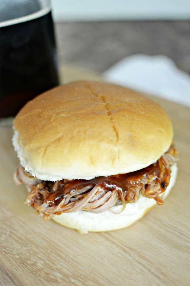 These root beer pulled pork sandwiches is the best recipe for pulled pork out there. So yummy and super simple to throw together.