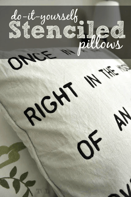Create your own typography pillow with this DIY Stenciled Pillow tutorial. Quick and easy with minimal time and materials needed.