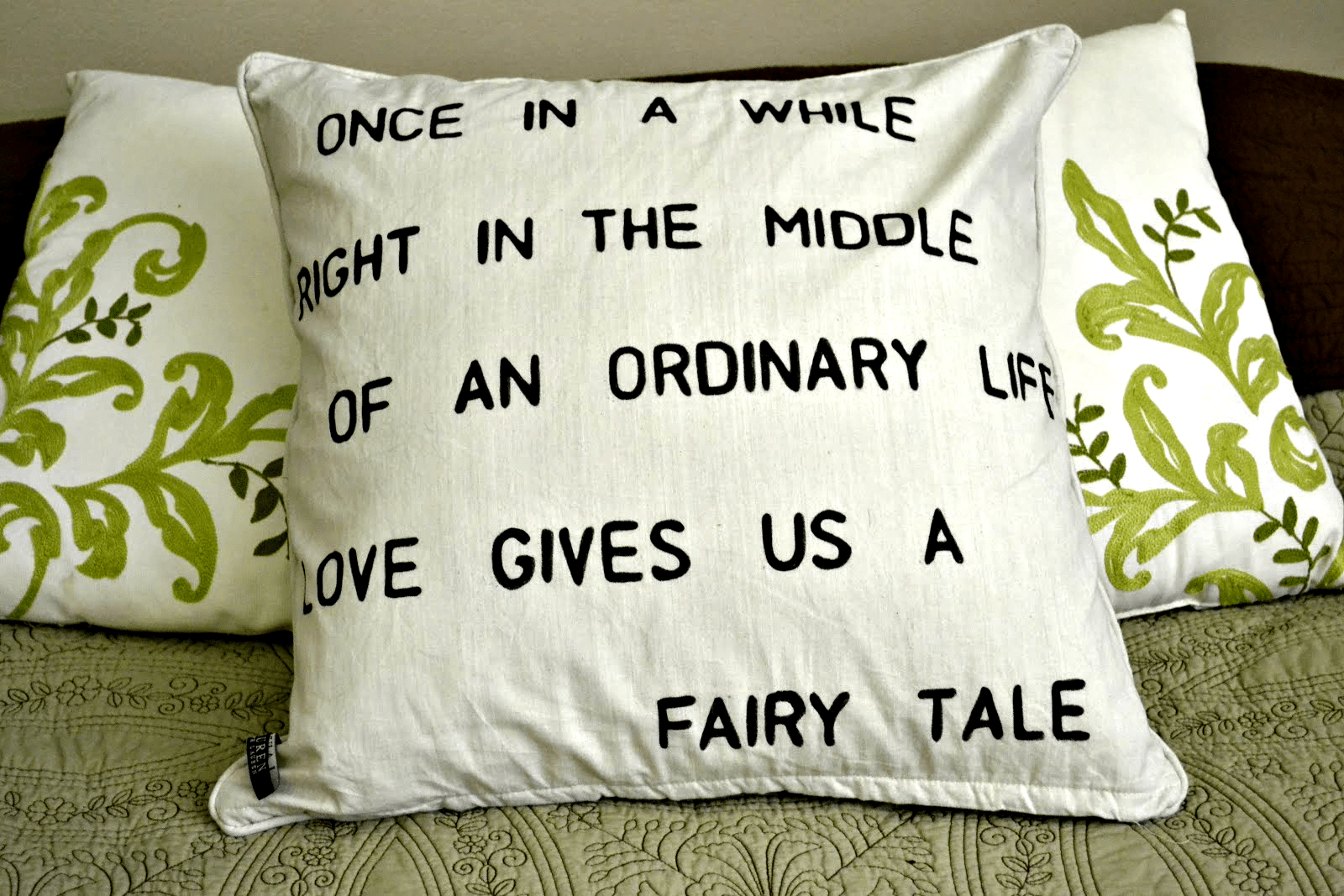 Do-It-Yourself Stenciled Pillows | This Girl's Life Blog