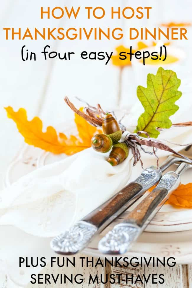 Hosting Thanksgiving dinner this year? Find out how to host stress-free with these 4 easy steps. Plus some great must have items for Thanksgiving!