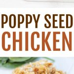Poppy seed chicken is such a classic recipe that is incredibly easy to make. A creamy chicken casserole topped with a buttery Ritz topping and poppy seeds.