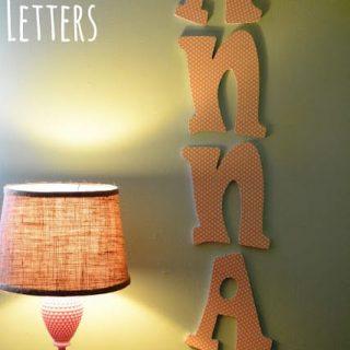 Mod Podge Wooden Letters
