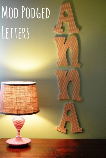 How To Mod Podge Wooden Letters For Nursery