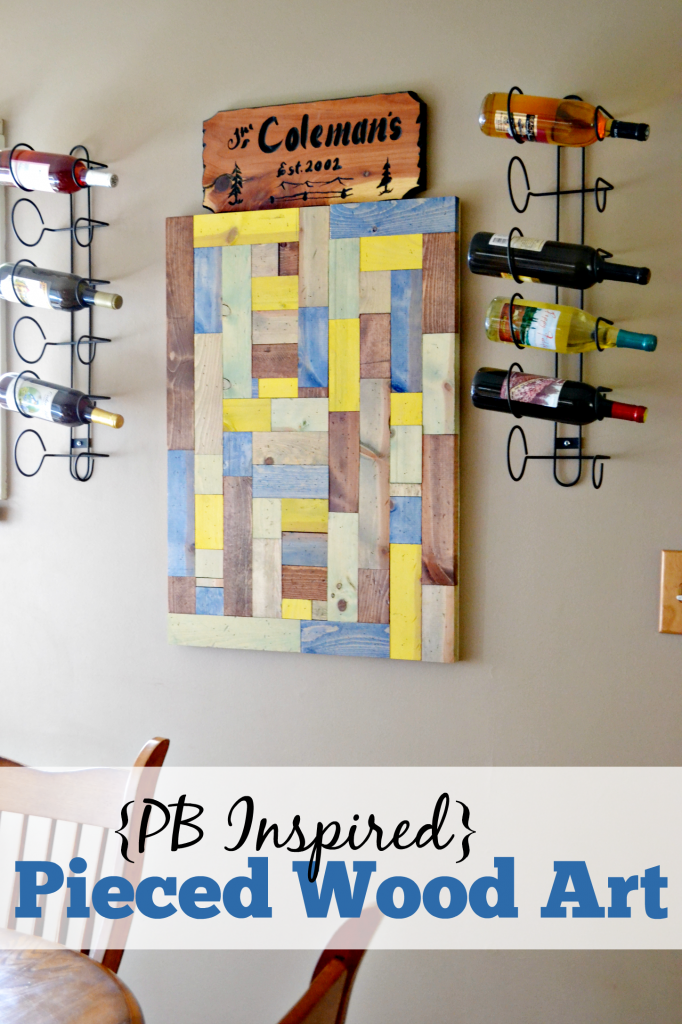 This pieced wood art was inspired by a higher end piece. Find out how it was created for the price of the taxes on the expensive piece alone.