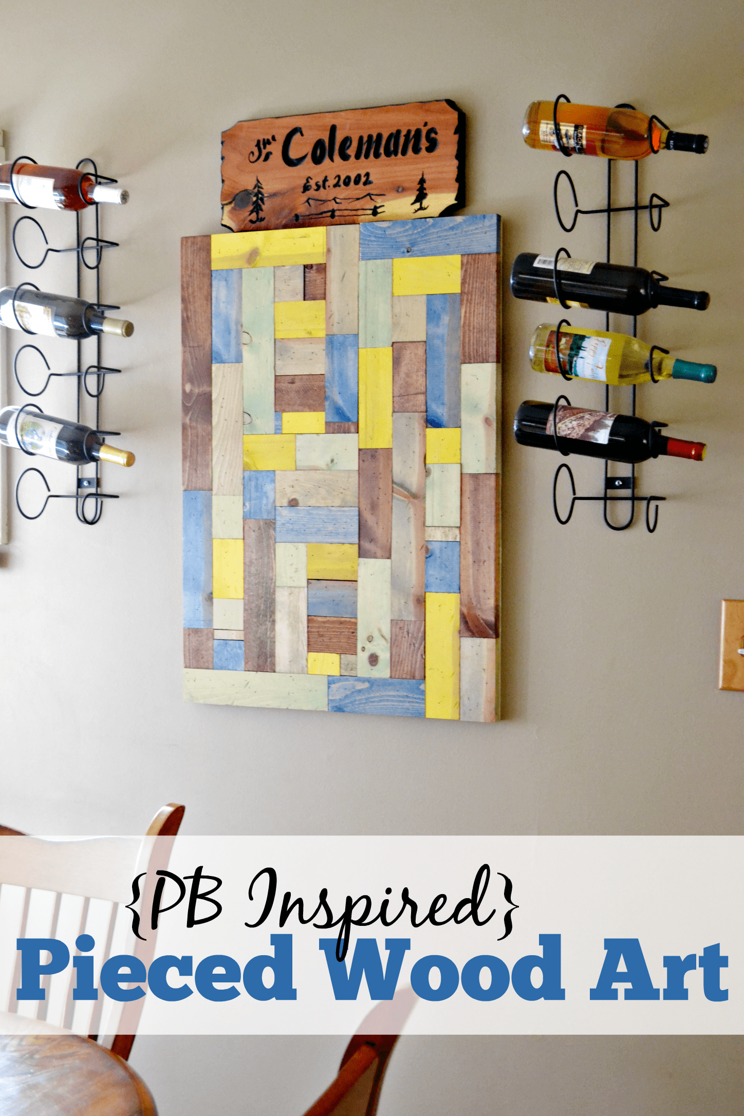 DIY Pieced Wood Artwork