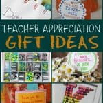 Looking for teacher appreciation gift ideas? Look no further because today I am sharing a bunch of creative and fun gifts that are sure to make every teacher smile and feel appreciated at the end of a great year.  These ideas include items to DIY and make at home as well as some you can also buy. #TeacherAppreciation #GiftIdeas #TeacherGifts #EndofYearGiftIdeas