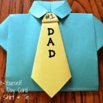 Origami Shirt and Tie made for Father's Day out of 2 pieces of construction paper.