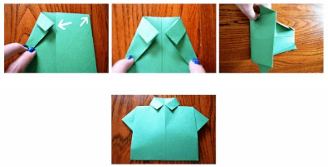Step By Step Instructions How To Make Origami A Shirt. Stock ... | 332x650