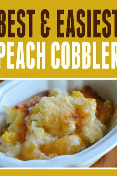 Easy Peach Cobbler Recipe