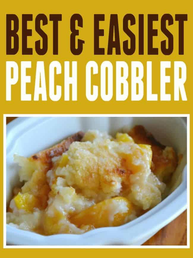 Easy Peach Cobbler Recipe | Today's Creative Blog