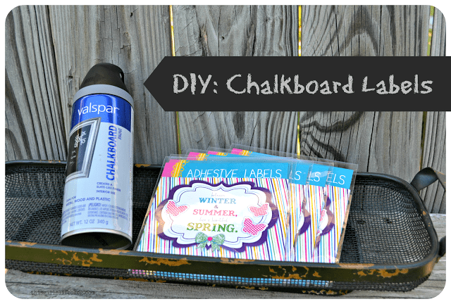 DIY: Chalkboard Labels