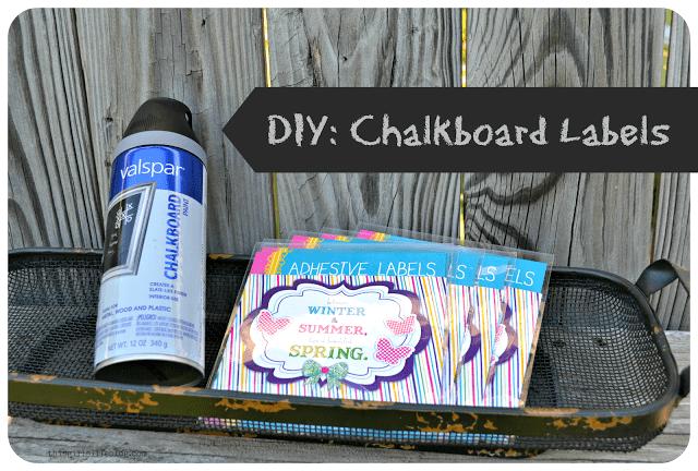 DIY: Chalkboard Labels