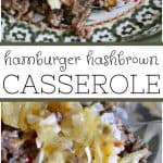 Hamburger Hash Brown Casserole is the perfect quick and easy dinner to throw together on a busy night. It will hit the spot!
