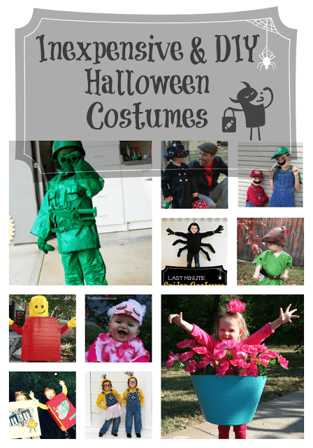 These Halloween costume ideas for kids are inexpensive and all made to do it yourself. Great ideas from classic Peter Pan to a unique flower pot. #Halloween #HalloweenCostumes #Costumes #kids #DIY #InexpensiveCostumes #forkids #trickortreating