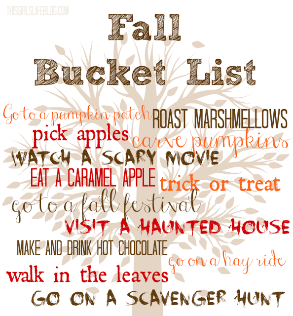 Fall Bucket List & Scavenger Hunt