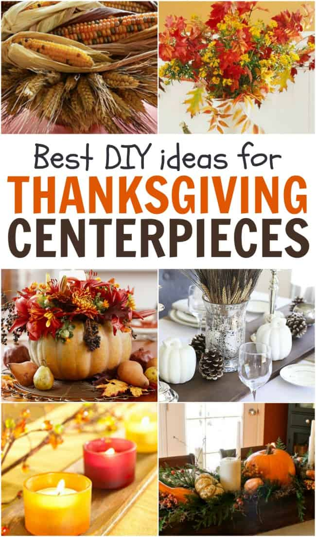 Thanksgiving is nearing and it's time to start thinking about the centerpieces for the big day. These DIY Thanksgiving Centerpieces would be perfect!