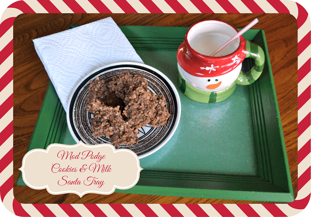 DIY: Mod Podge Cookies & Milk Santa Tray