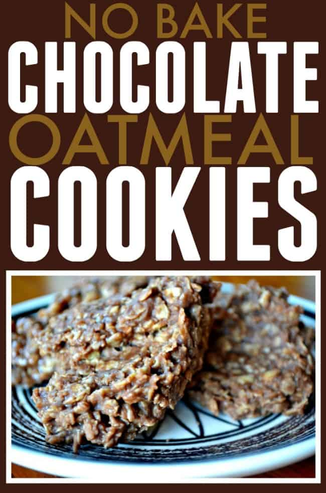 The best no bake chocolate oatmeal cookies you will ever try. If you love cookies and chocolate then you will love this one.