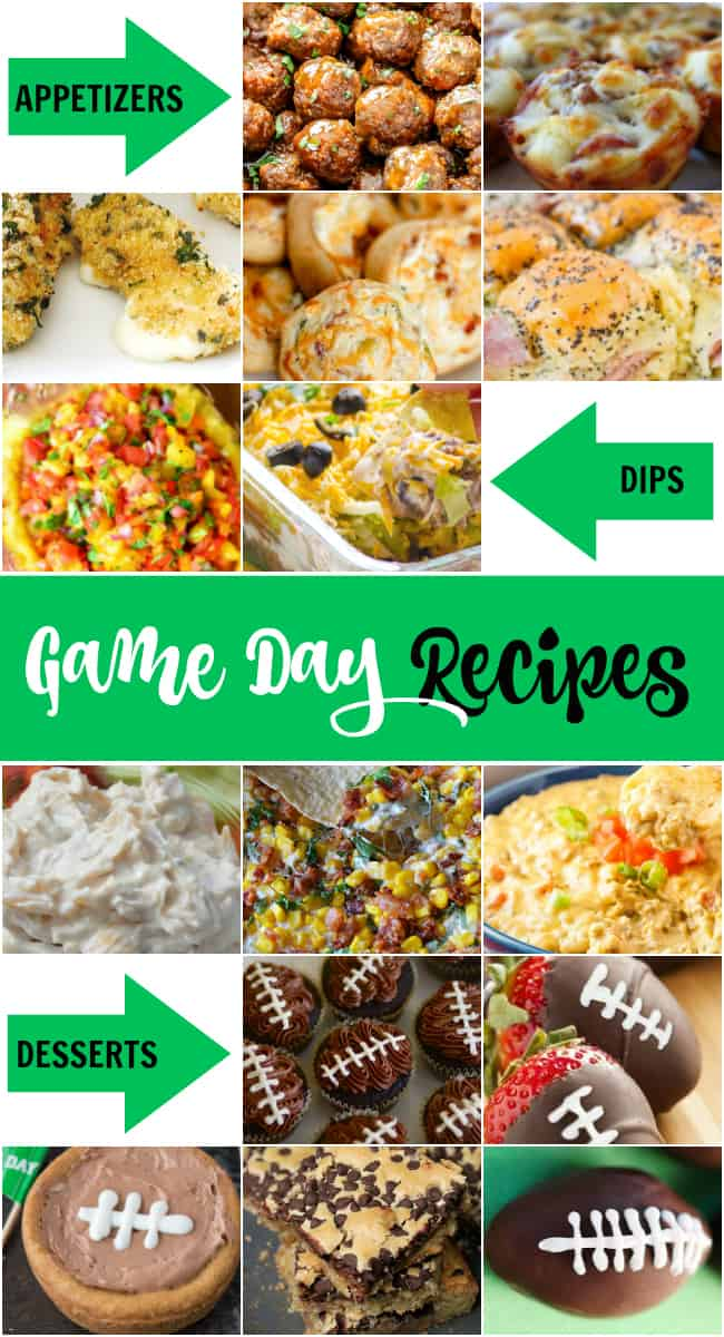 On the hunt for some deliciousgame day recipes for a crowd? Then these Superbowl party foods you will want to try.  Whether you're a football fanatic or just in it for the halftime show,game dayrequires serious snacks.Make your house footballheadquarters with theserecipesfor appetizers, dips, and desserts.