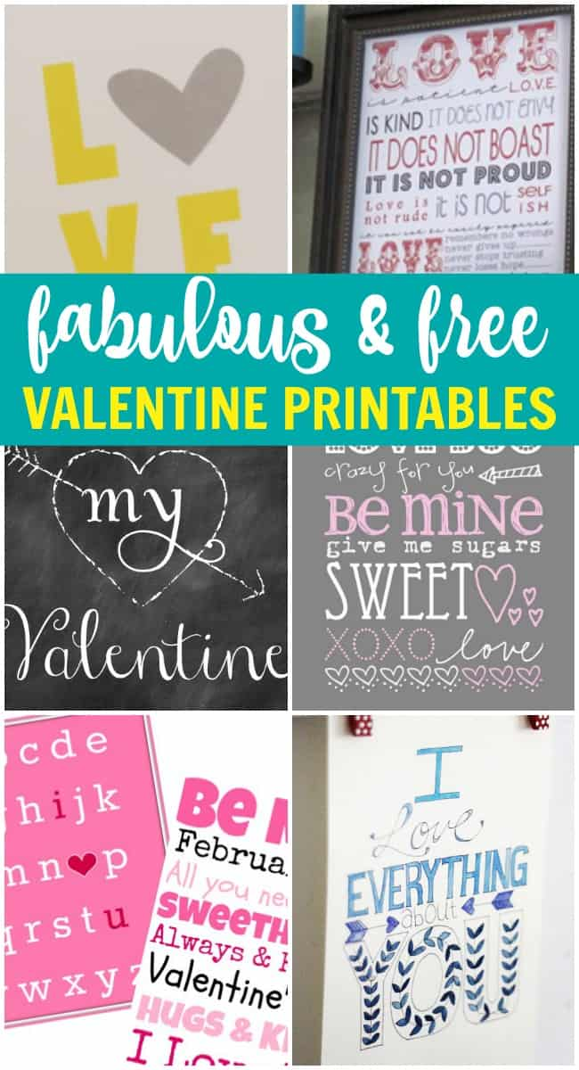 Want a simple and free way to decorate your home for Valentine's Day? How about printing one of these fabulous free valentine's printables.