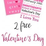Print out these 2 free Valentine printables to add a little love in your home.