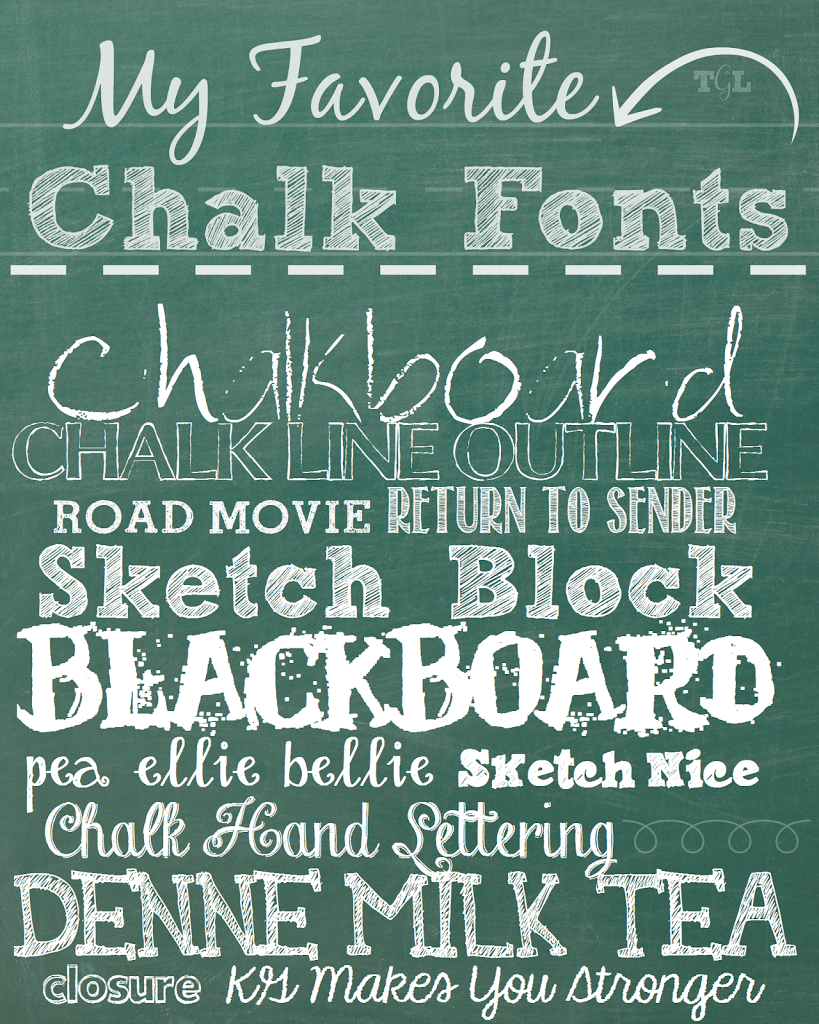 Chalk it up my favorite chalk fonts this girl 39 s life blog Chalkboard typography