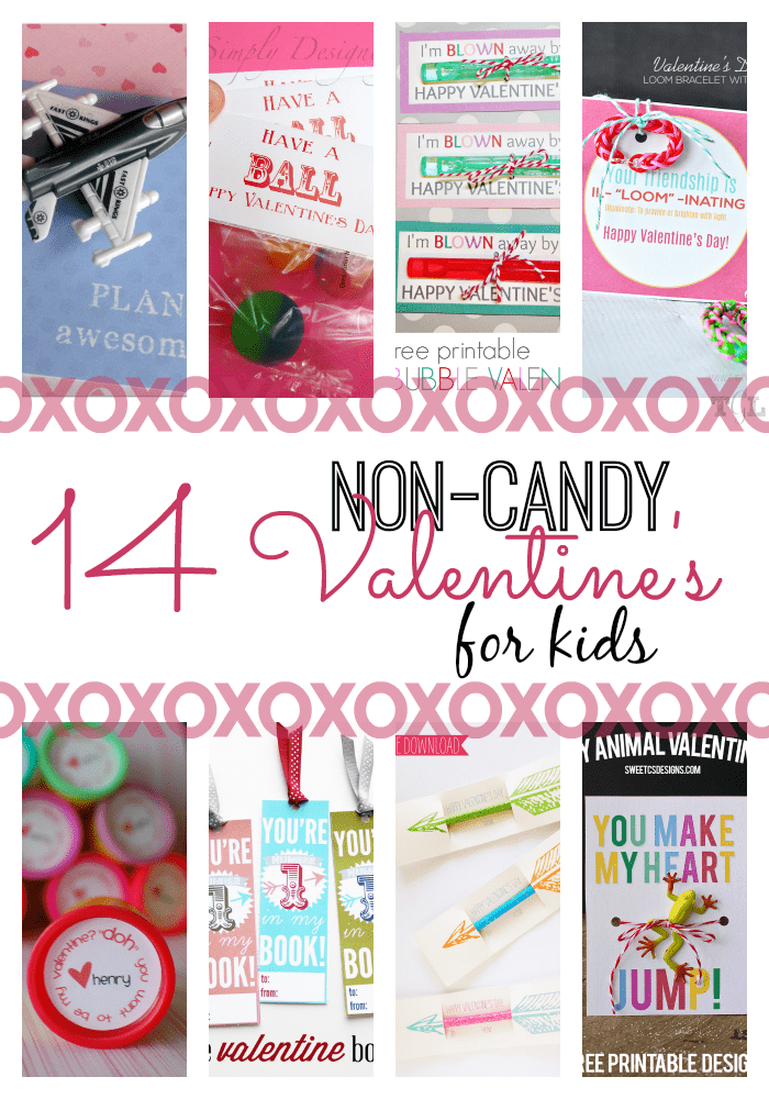 Skip the sweets this Valentine's Day and go with one of these clever and cute Non-Candy Valentine Ideas. Whether your child has food allergies or you are thinking of their classmates, choosing Valentine's classroom treats that don't involve food are a great choice!  #ValentinesDay #NonCandyValentineIdeas #NonCandyValentines #ClassroomTreats #ValentinesTreats