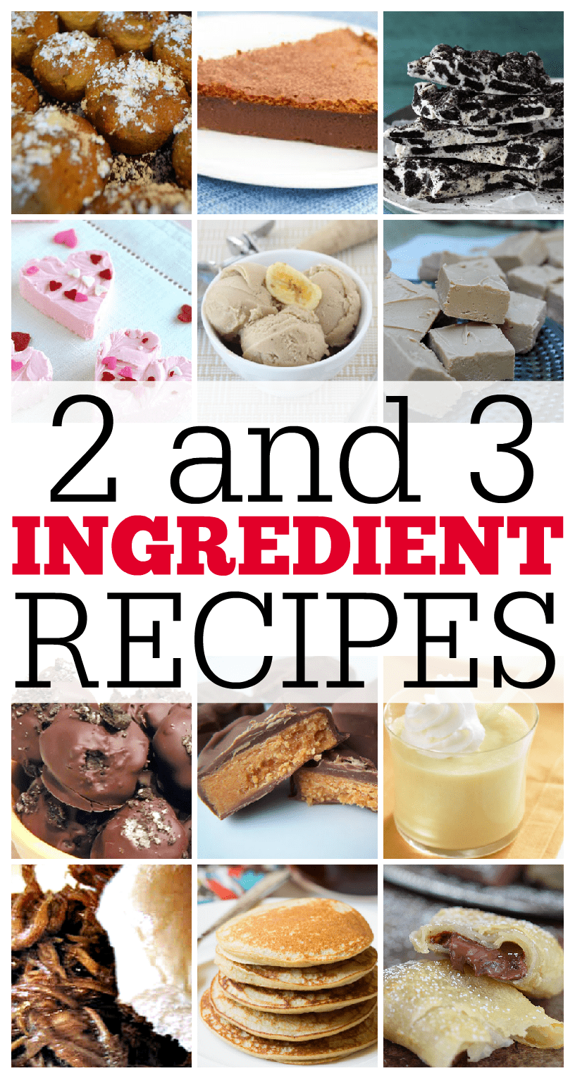 Cake Recipes With Pictures And Ingredients : 2 and 3 Ingredient Recipes Round Up - This Girl s Life Blog
