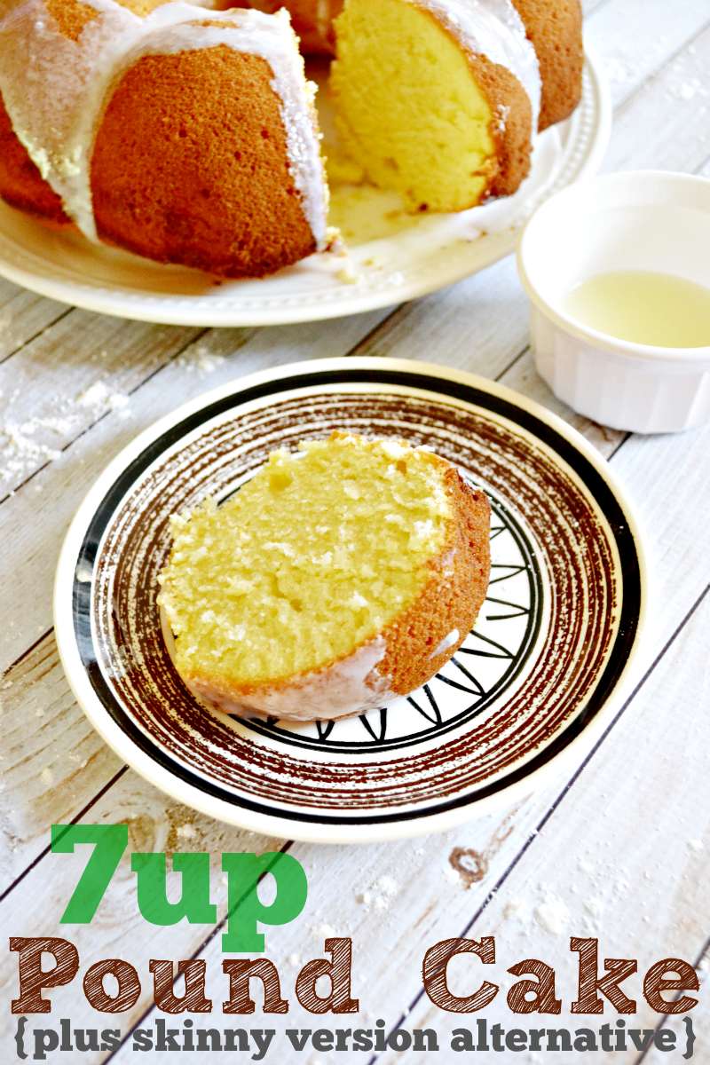 Did you ever have 7UP pound cake growing up? This is a southern recipe ...