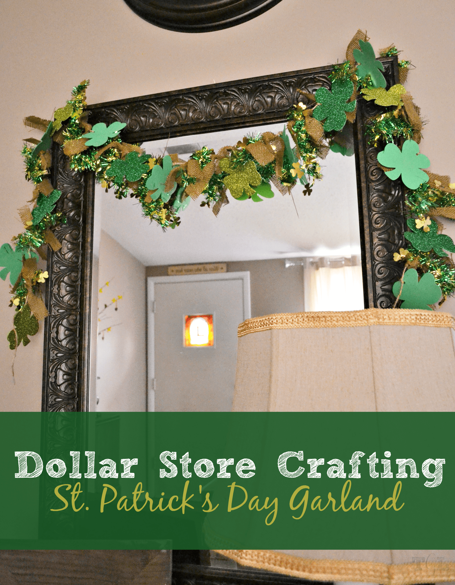 Dollar Store Crafting: St. Patrick's Day Garland | This Girl's Life Blog