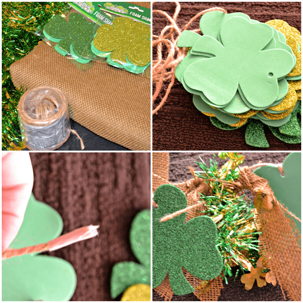 Dollar Store Crafting: St. Patrick's Day Garland Directions | This Girl's Life Blog
