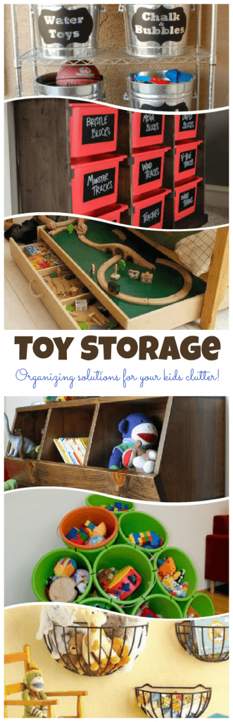 Creative ways to store all of your kids toys can be overwhelming. Check out all these awesome solutions to get your kids toy storage under control.