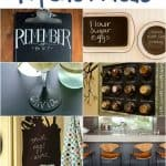 12 amazing chalkboard kitchen ideas! Bring chalkboard paint into your kitchen by painting a wall, door, cabinets, kitchen items and more.
