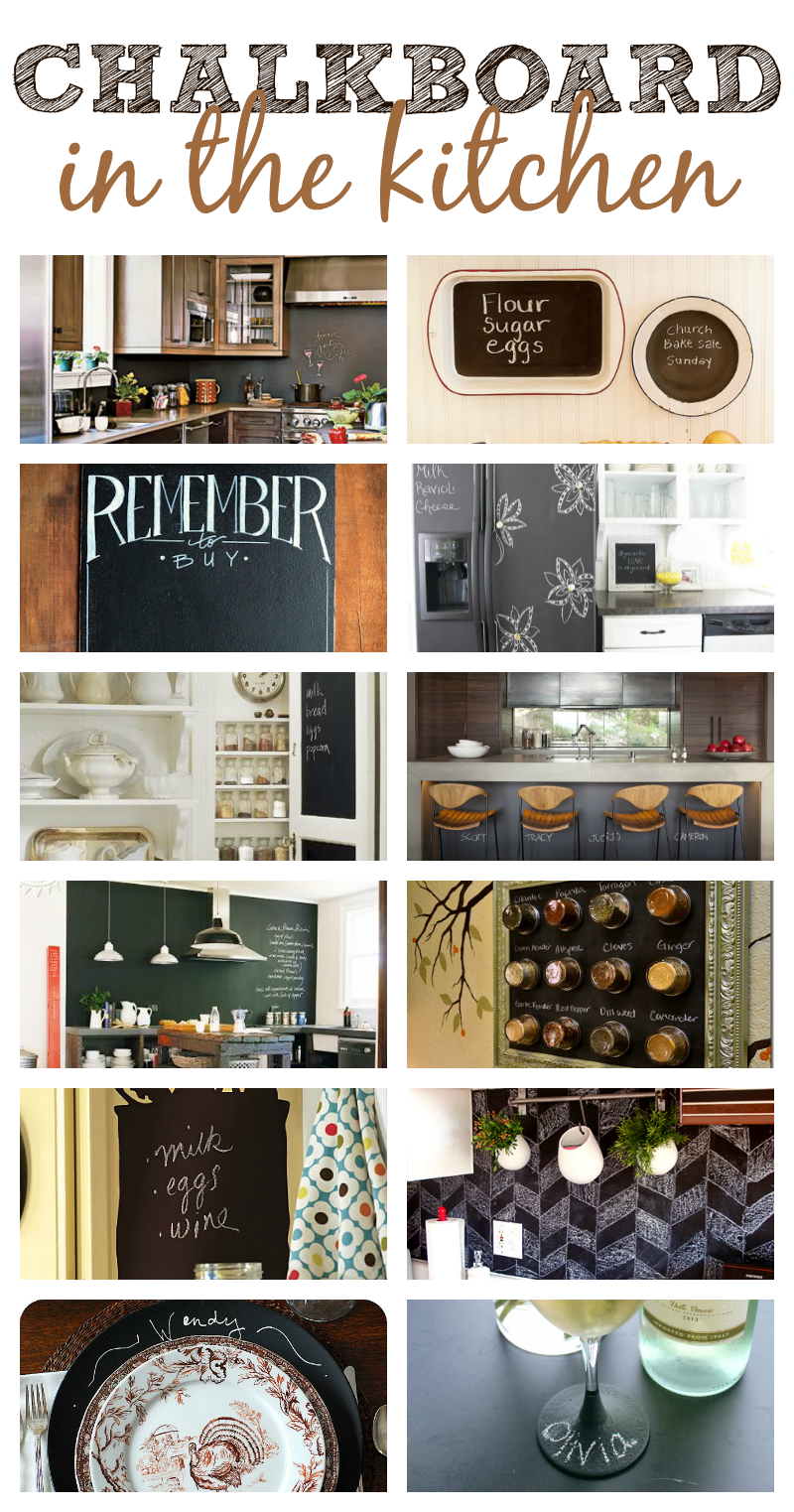 Chalkboard ideas in the kitchen this girl 39 s life blog - Kitchen chalkboard paint ideas ...