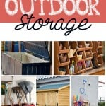 Outdoor storage ideas and inspiration.