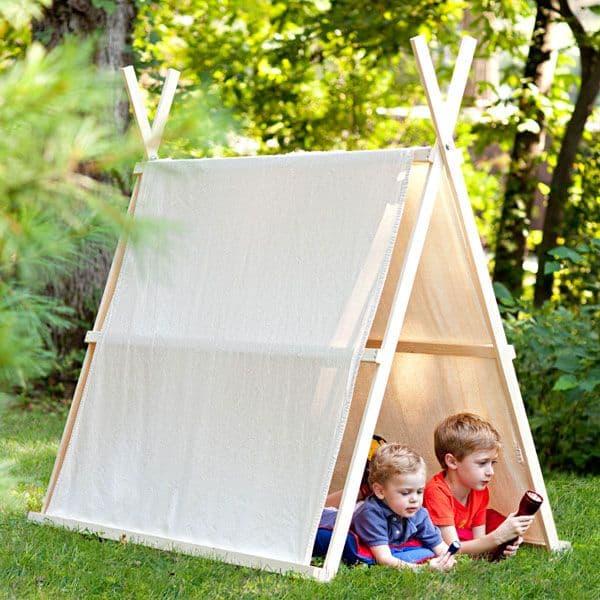 Dropcloth-tent