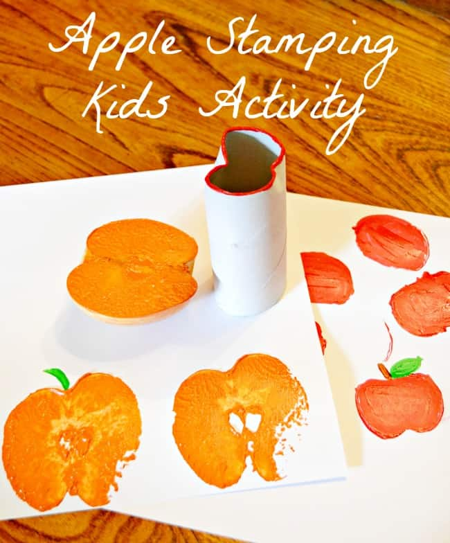 Apple Stamping Kids Activity