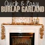 Quick & Easy Burlap Garland
