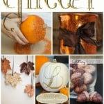 Fall Glitter Crafts
