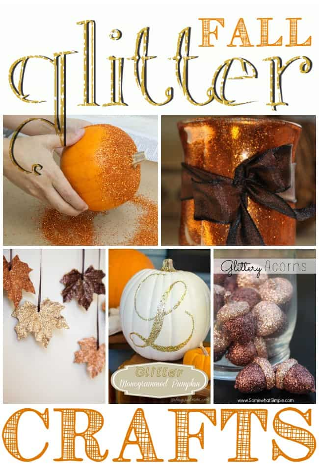 Fall Glitter Crafts