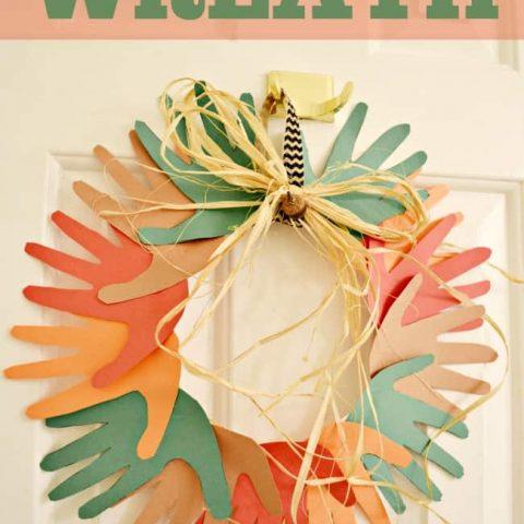 Fall Hand Print Wreath