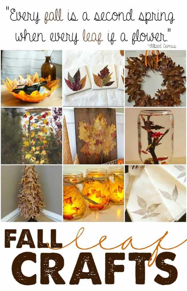 Different types of ways you can use fall leaves by making these creative and clever fall leaf crafts.