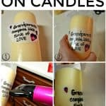 How to print on candles with tissue paper is a super easy DIY project that is great for a unique gift giving experience.