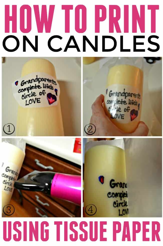 how to put photo on candles