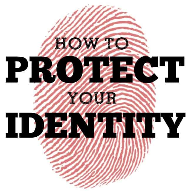 How to protect your identity!