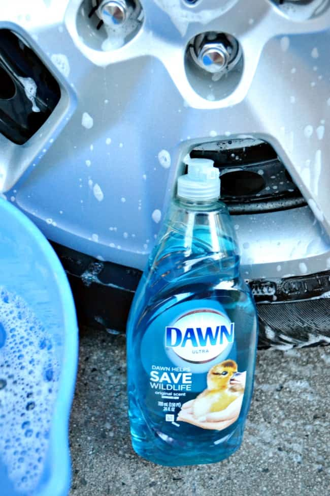 Use Dawn on tires.