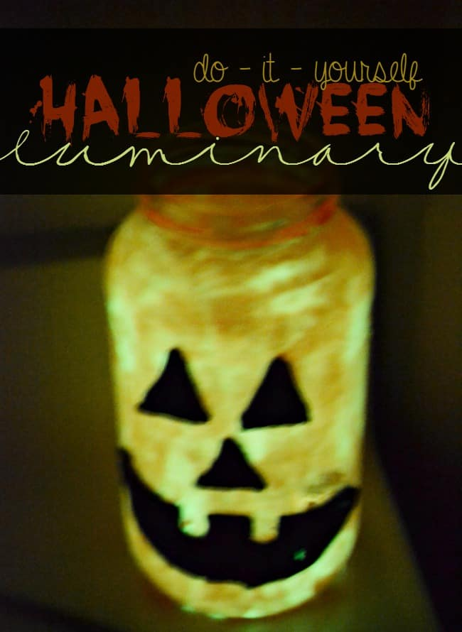 DIY Halloween Luminaries Glow in the dark
