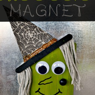 Popsicle Stick Witch Magnet