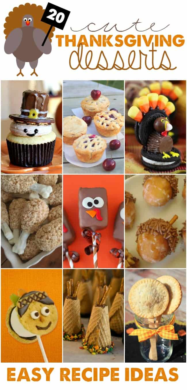 Kid-friendly and CuteThanksgiving dessertsis always a must for moms of littles. That is why I have rounded up thecutestrecipes for Thanksgiving sure to please even the adults too.