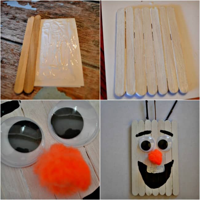 Popsicle Stick Olaf Craft